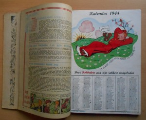 From 'Robbedoes Almanak 1944' (ill. Jijé; (c) Dupuis and the artist; image from catawiki.com))