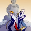Spirou and Fantasio fanart (ill. Sébastien Abellan aka. Mercvtio; (c) Dupuis and the artist; image from deviantart.com)
