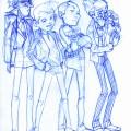 Spirou, Fantasio, Spip and Champignac (ill. Alexandre Desjardins-Brunet; (c) the artist; Spirou (c) Dupuis; image from deviantart.com)