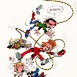 Gaston, Spirou, Marsupilami and Fantasio (ill. Tarrin; (c) the artist; Spirou, Gaston and Marsupilami (c) Dupuis; image from tumblr.com)