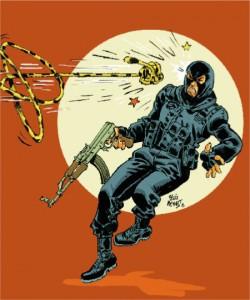Marsupilami contra terrorism (ill. Meynet; (c) the artist; Marsupilami (c) Marsu Productions; image from konbini.com)
