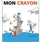 'Touche pas à mon crayon' (ill. Bubblenoise; image from dupuis.com)