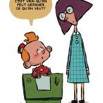 'Maîtresse, c'est vrai qu'on peut dessiner ce qu'on veut?' (ill. Kike & Pedro; image from dupuis.com)