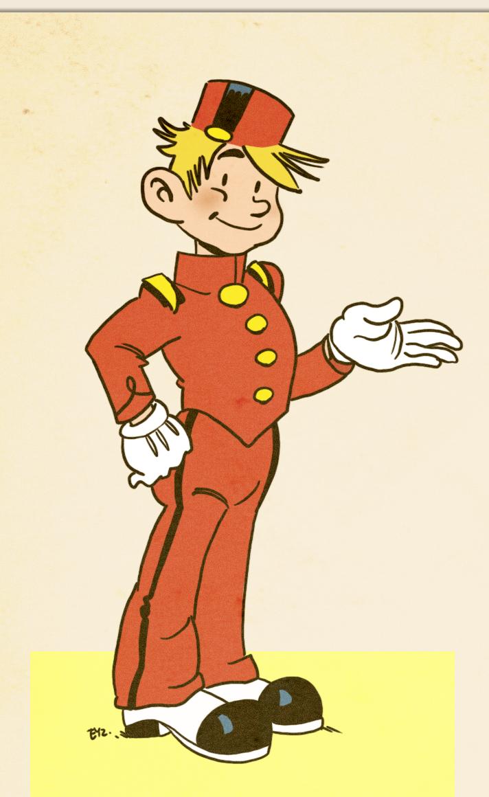 Retro Spirou (ill. Eyz; (c) the artist; Spirou (c) Dupuis; image from deviantart.com)