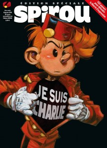 Journal de Spirou 'Je suis Charlie' HS (Special Journal de Spirou issue for Charlie Hebdo; ill. Yoann; (c) Dupuis and the artist)