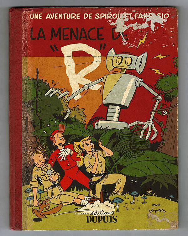 'La Menace de R' fanart mockup (ill. Torbjørn Vagstein; (c) the artist; Spirou (c) Dupuis)