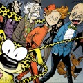 Spirou and friends (ill. Norberto Jesús Fernández Serrano; (c) the artist; Spirou (c) Dupuis; image from blogspot.com)