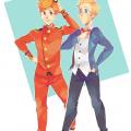 Spirou & Fantasio (ill. LaWeyD; (c) the artist; Spirou (c) Dupuis; image from deviantart.com)