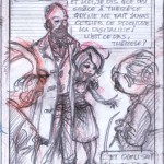Sketch for 'Ptirou' p. 3 panel 8 (ill. Verron & Sente; (c) the artists; image from verron-laurent.com)