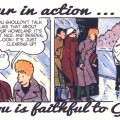"""Friends of Spirou Code of Honor"" 4 ('Les Amis de Spirou Code d'Honneur' 4; ill. Jijé & Jean Doisy; (c) Dupuis and the artists; SR scanlation)"