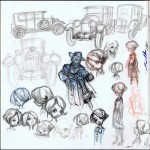 Sketches for 'Ptirou' (ill. Verron & Sente; (c) the artists; image from verron-laurent.com)