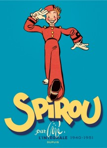 'Spirou par Jijé' intégrale collected edition cover (ill. Jijé; (c) Dupuis and the artist)