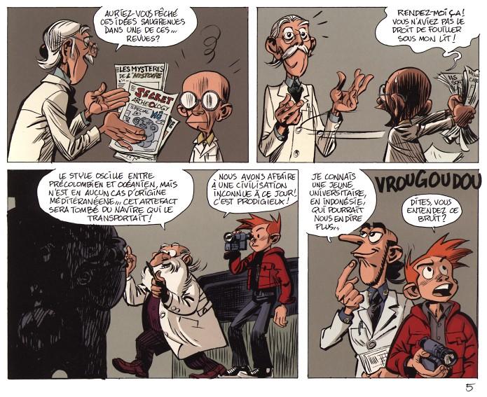 'Les géants pétrifiés' p.5b (ill. Yoann & Vehlmann; (c) Dupuis and the artists)
