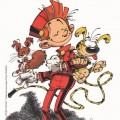 Homage to Franquin (ill. Coicault; (c) the artist, Spirou (c) Dupuis; image adapted from bedecouverte.com)