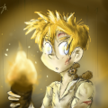 Spirou and Spip in 'Valley of the Exiles' (ill. Inês Saraiva aka SpipLover, after Tome & Janry; (c) the artist; Spirou (c) Dupuis; image from deviantart.com)
