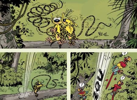 Page from 'Houba ! Une histoire d'amour' (ill. Franquin & Jannin; (c) Marsu Productions and the artists; image from actuabd.com)