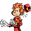 Spirou doodle (ill. Olivier Clero; (c) the artist; Spirou (c) Dupuis; image from deviantart.com)