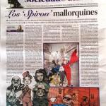 'Diario de Mallorca' article on Exposición Colectiva 'y se escribe Spirou' on Mallorca (photo from facebook.com)