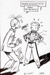 Spirou and Fantasio convention sketch for Laurent (ill. Bravo; (c) the artist)