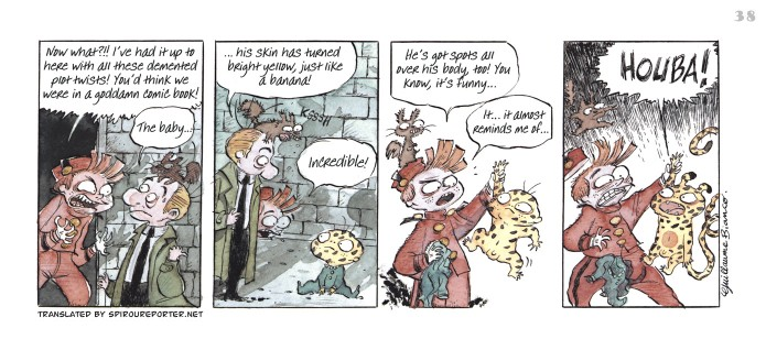 """Spirou's Exquisite Corpse"" p. 38 ('Spirou: Un Cadavre Exquis'; ill. Guillaume Bianco; (c) Dupuis and the artist; SR scanlation)"