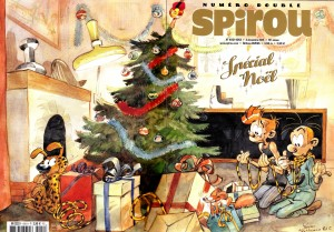 "Journal de Spirou #4051-4052 'Spécial Noël' wraparound cover (""Christmas Special""; ill. Yoann & Vehlmann; 2015 (c) Dupuis and the artists; image from facebook.com)"