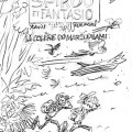 Spirou & Fantasio #55 'La Colère du Marsupilami' cover sketch (ill. Yoann & Vehlmann; 2015 (c) Dupuis and the artists; image from stripspeciaalzaak.be)