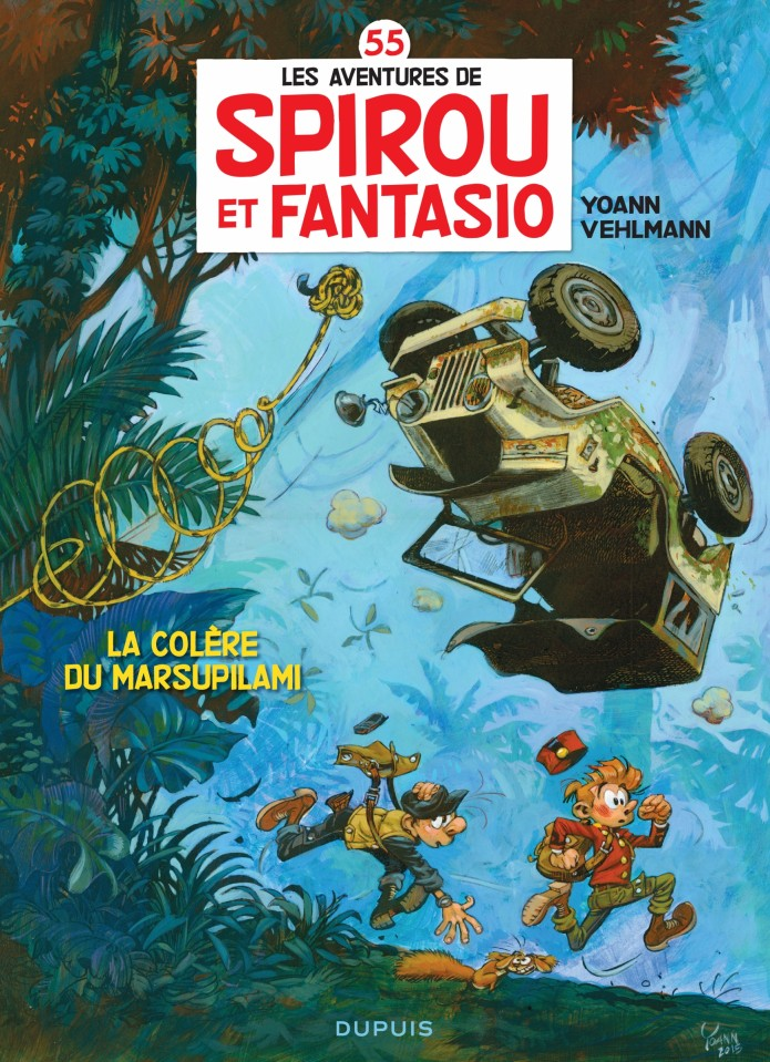 'La Colère du Marsupilami' cover (ill. Yoann & Vehlmann; 2015/2016 (c) Dupuis and the artists; image from inedispirou.com)