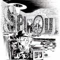 Spirou & Fantasio, Will Eisner style (ill. Pinturero; 2015 (c) the artist; Spirou (c) Dupuis; image from pintureiro.deviantart.com)