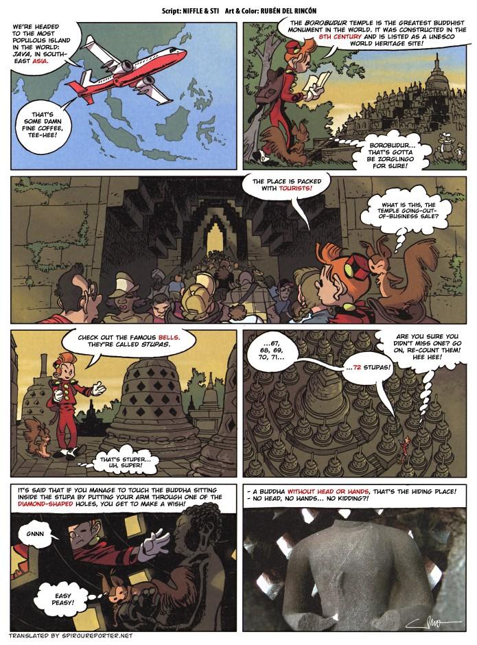 """Summer Treasure Hunt 2015"" from the Journal de Spirou #4046 (ill. Rubén del Rincón, Niffle, Sti; (c) Dupuis and the artists; SR scanlation)"