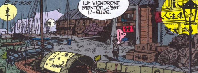Excerpt from 'Le Prisonnier du Bouddha' (ill. Franquin, Jidéhem & Greg; Copyright (c) Dupuis and the artists; image from du9.org)
