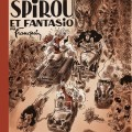 Remake of 'Spirou et Fantasio' album cover, from 'Let Petit livre de la bande dessiné' by Hervé Bourhis (ill. François Ravard after Franquin; Copyright (c) 2014 by Dupuis, Dargaud and the artists; image from tumblr.com)