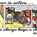 """Friends of Spirou Code of Honor"" 8 ('Les Amis de Spirou Code d'Honneur' 8; ill. Jijé & Jean Doisy; Copyright (c) 1941 by Dupuis and the artists; SR scanlation)"