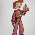 Spirou and Spip (ill. Yépiz (yunleen); Copyright (c) 2016 by the artist; Spirou (c) Dupuis; image from yunleen.tumblr.com)