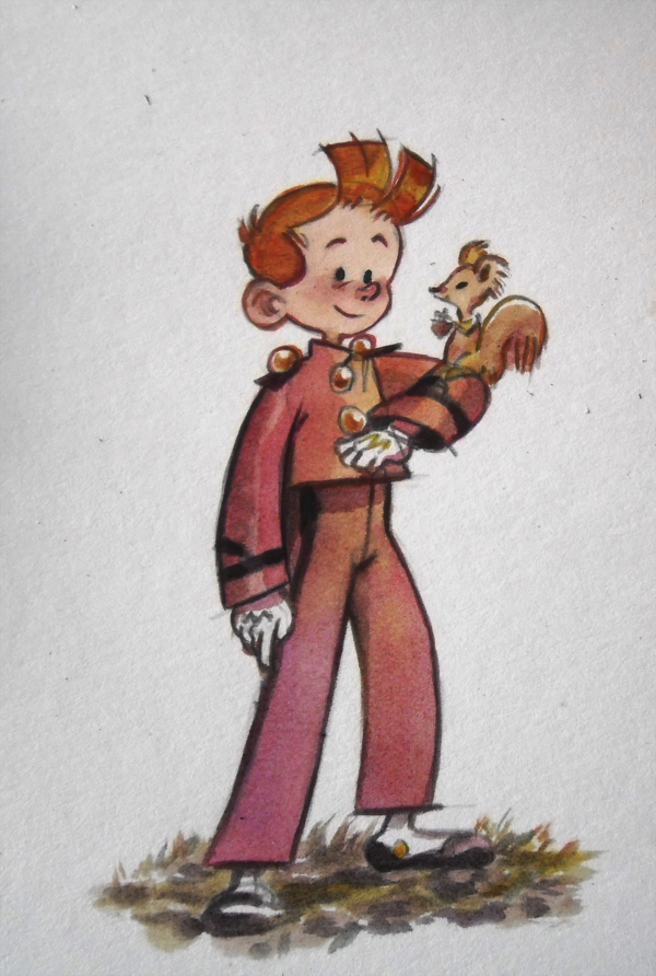 Spirou and Spip (ill. Yépiz (yunleen); Copyright (c) 2015 by the artist; Spirou (c) Dupuis; image from yunleen.tumblr.com)