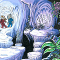 "Spirou & Fantasio, Ice Cavern Exploration (ill. Emily ""Raax"" Stewart; Copyright (c) 2015 by the artist; Spirou (c) Dupuis; image from raax-theicewarrior.deviantart.com)"
