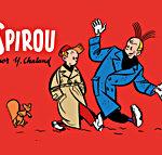 'Spirou por Y. Chaland' ES cover ('Spirou par Chaland'; ill. Yves Chaland; Copyright (c) Dupuis, Dibbuks and the artist; image from dibbuks.es)