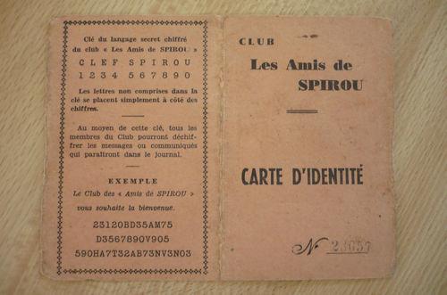 Amis de Spirou membership card (photo source unknown)