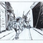 Panel from Ptirou (ill. Verron & Sente; Copyright (c) Dupuis and the artists; image from www.verron-laurent.com)