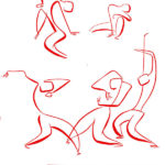 Dancers (ill. Hanco Kolk; image from pinterest.com)