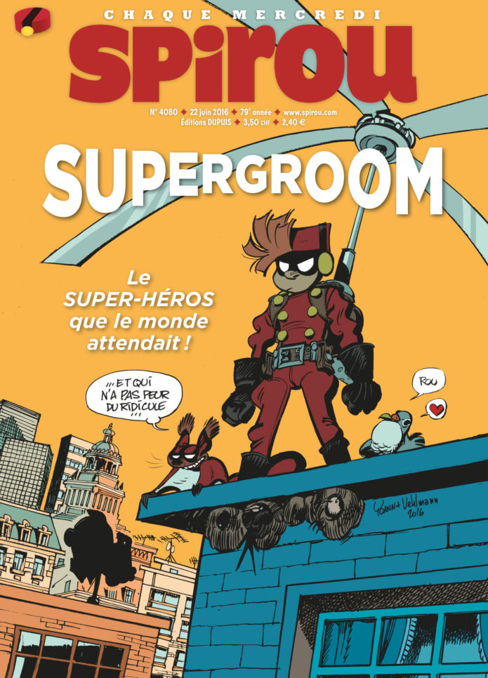 Journal de Spirou #4080 cover (ill. Yoann & Vehlmann; Copyright (c) 2016 Dupuis and the artists; image from izneo.com)