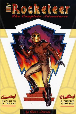 'The Rocketeer: The Complete Adventures' cover (ill. Dave Stevens; image from tumblr.com)