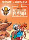 "'Sprycjan i Fantazjusz: Australijska przygoda' cover ('Aventure en Australie', ""Spirou & Fantasio #32: Adventure Down Under""; ill. Tome & Janry; Copyright (c) Dupuis, Taurus Media and the artists; image from alejakomiksu.com)"