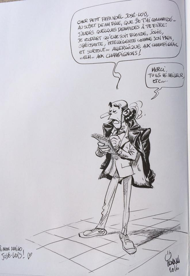 Zorglub sketch for Munuera (ill Yoann; Copyright (c) 2016 the artist; Spirou (c) Dupuis; image from facebook.com)