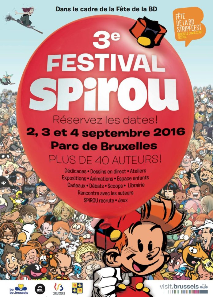 Festival Spirou 2016 poster (ill. Yoann et al.; Copyright (c) Dupuis and the artists; image from facebook.com)