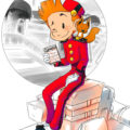 "Spirou and Spip by casino (ill. Christina ""Neryko""; Copyright (c) 2015 by the artist; Spirou (c) Dupuis; image from neryko.deviantart.com)"