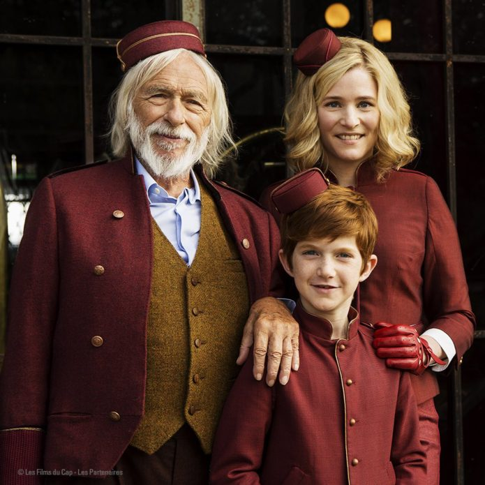 Pierre Richard, Natacha Régnier and Sacha Pinaud in 'Le Petit Spirou' film (Copyright (c) 2016 Les Films du Cap – Les Partenaires; Photo from facebook.com)