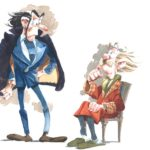 Zorglub and Count Champignac (ill. Munuera; Copyright (c) the artist; Spirou (c) Dupuis; image from inedispirou.com)