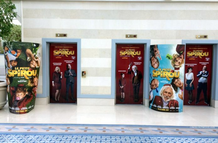 'Le Petit Spirou' film posters at the Congrès de la Fédération Nationale des Cinémas Français 2016 (photo from blogywoodland.blogspot.com)