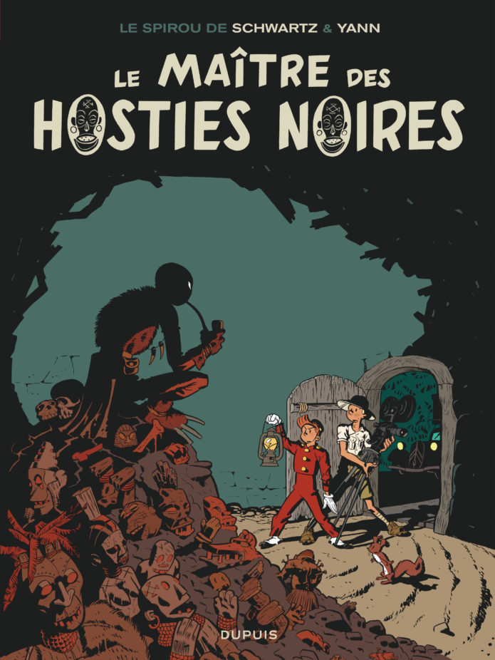 "'Le Maître des hosties noires' cover (""Master of the Black Hosts""; ill. Schwartz & Yann; Copyright (c) 2016 Dupuis and the artists; image from dupuis.com)"