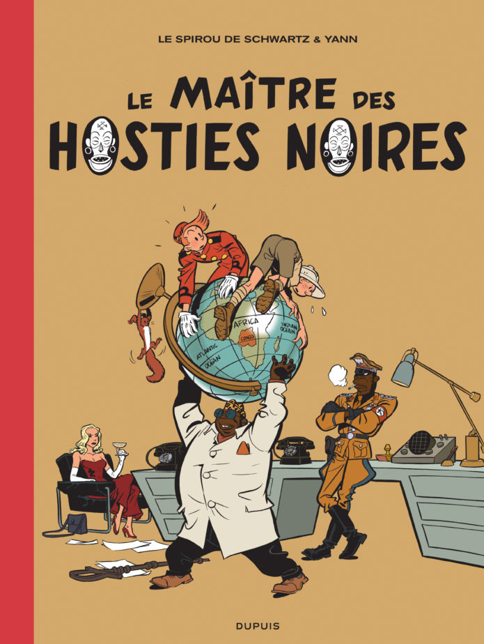 "'Le Maître des hosties noires' TL cover (""Master of the Black Hosts""; ill. Schwartz & Yann; Copyright (c) 2016 Dupuis and the artists; image from dupuis.com)"